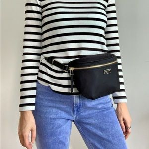 Kate Spade ♠️ Dawn Belt Bag Fanny Pack Black Nylon